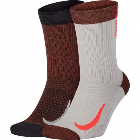 Nike Unisex Socken Multiplier Crew (2 Pair) SX7557