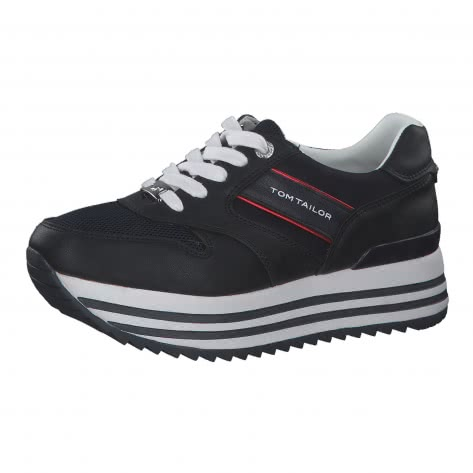 Tom Tailor Damen Sneaker mit Plateau 8091406