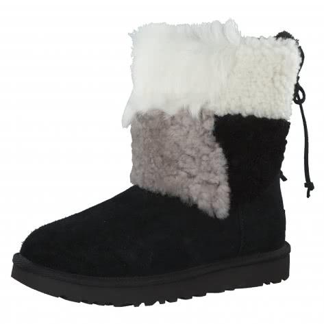 UGG Damen Boots Classic Short Patchwork Fluff 1098071-BLK 38 Black | 38