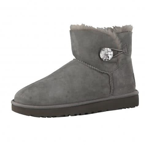 UGG Damen Boots Mini Bailey Button Bling 1016554-GREY 41 Grey | 41