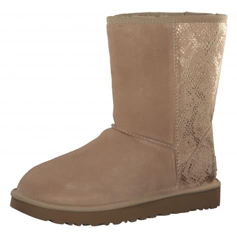 UGG Damen Boots Classic Short Metallic Snake 1101473