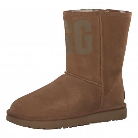 UGG Damen Boots Classic Short UGG Rubber Logo 1108230-CHE 40 Chestnut | 40