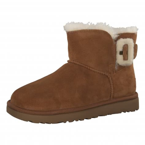 UGG Damen Boots Mini Bailey Fluff Buckle 1104182