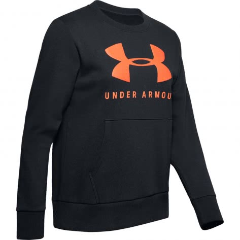 Under Armour Damen Pullover Rival Fleece Sportstyle Graphic Crew 1349095-001 XL Black/Beta Red | XL