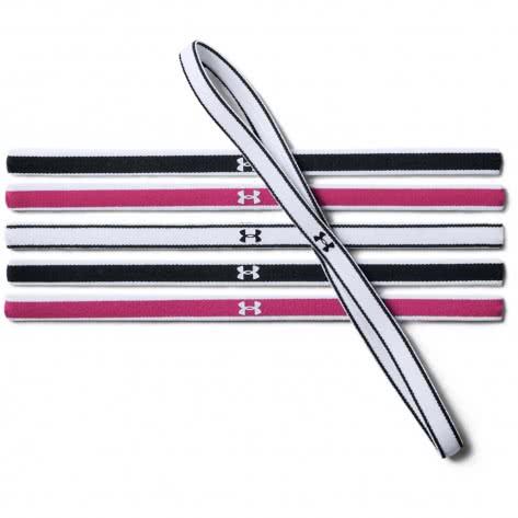 Under Armour Damen Stirnbänder Mini Headbands (6Pk) 1286016-002 One size Black/Tropic Pink/White   One size