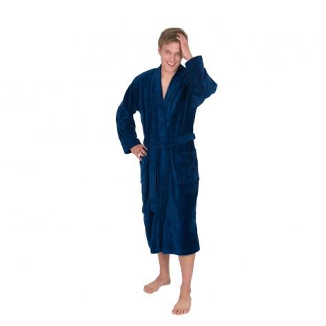 WeWo fashion Herren Bademantel Kimono 1017-jeansblau XXL Jeansblau | XXL