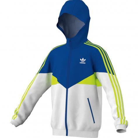 Adidas Originals Adidas Kinder WINDBREAKER Jacke white/electricity