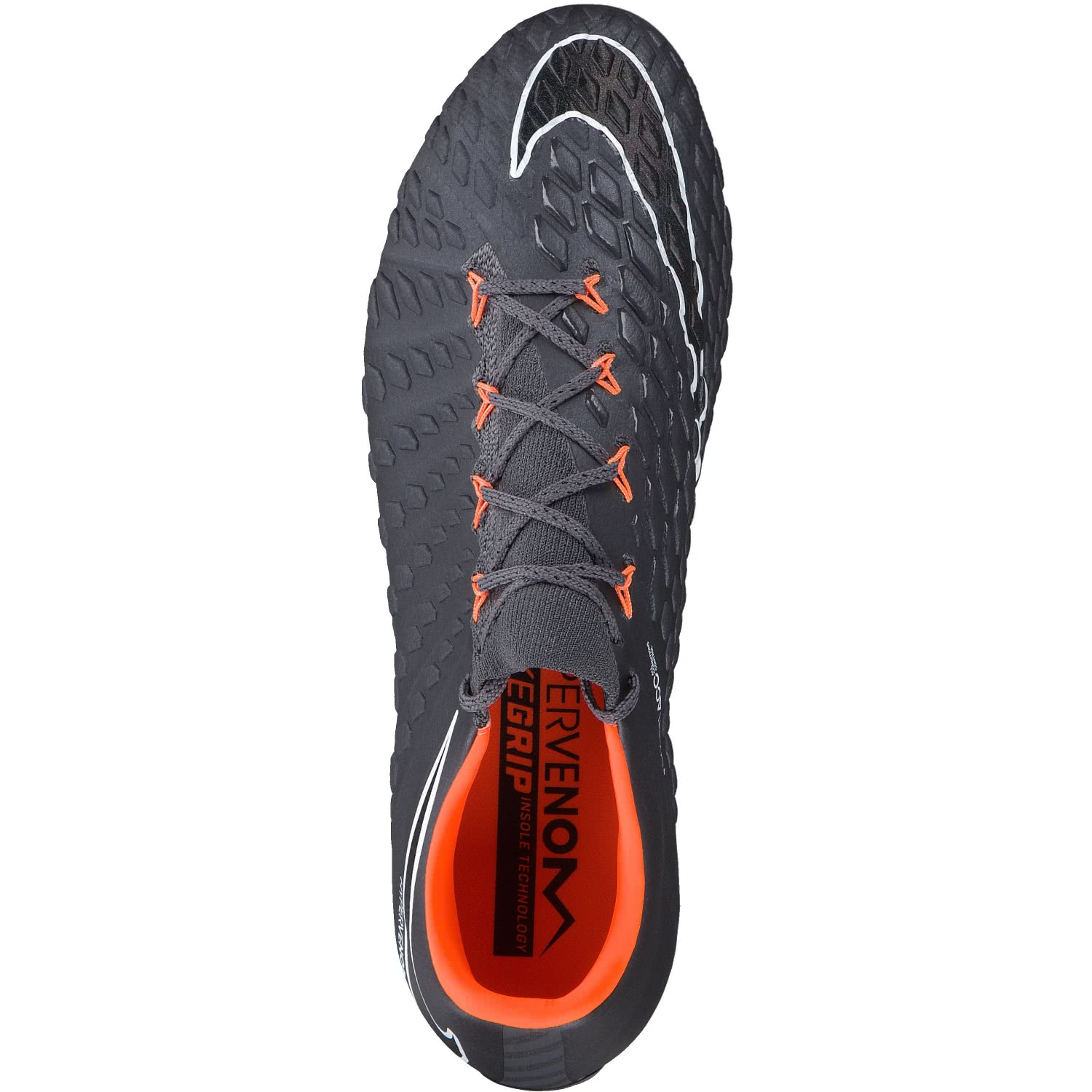 HYPERVENOM PHANTOM III ELITE AC SG-PRO - Fußballschuh Stollen - dark grey/total orange/white StQtincqve