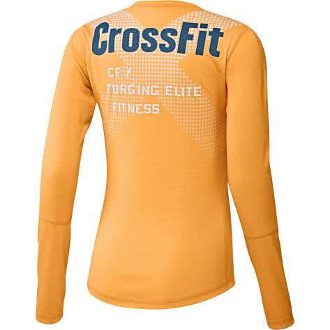 Reebok CrossFit Damen Langarmshirt Graphic Burnout