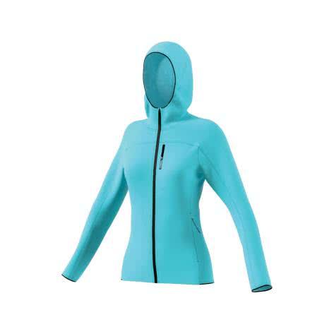 adidas Damen Laufjacke TERREX TraceRocker Hooded Fleece