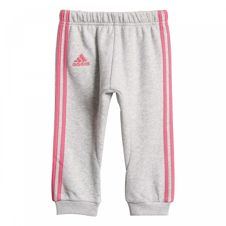 adidas Baby Jogginganzug Logo Hooded Jogger FL DV1275 68 light grey heathersemi solar pink   68  