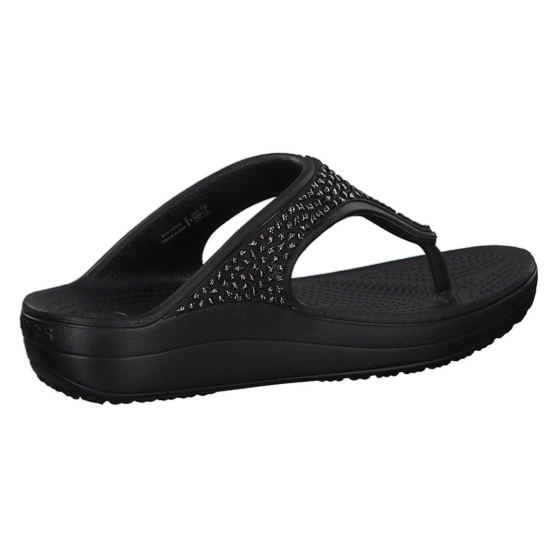 crocs Damen Zehentrenner Sloane Embellished Flip 204181 Black/Black 33-34 z2yz6