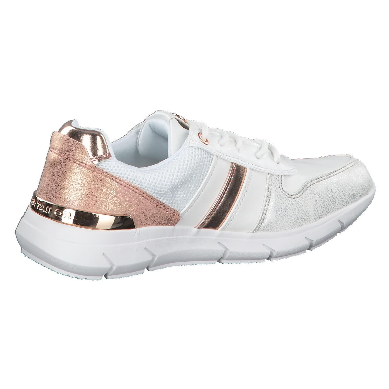 Damen 4891705 Sneaker, Weiß (White), 40 EU Tom Tailor