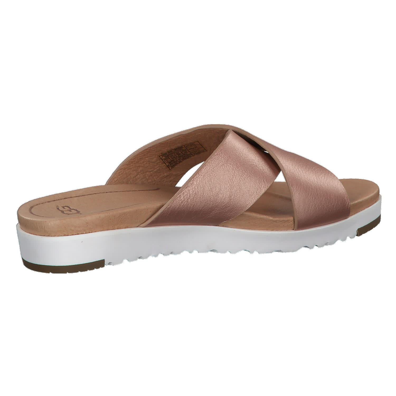 UGG Sandale 'Kari' Metallic mit Lederriemen rosegold / weiß KMoBz6dI