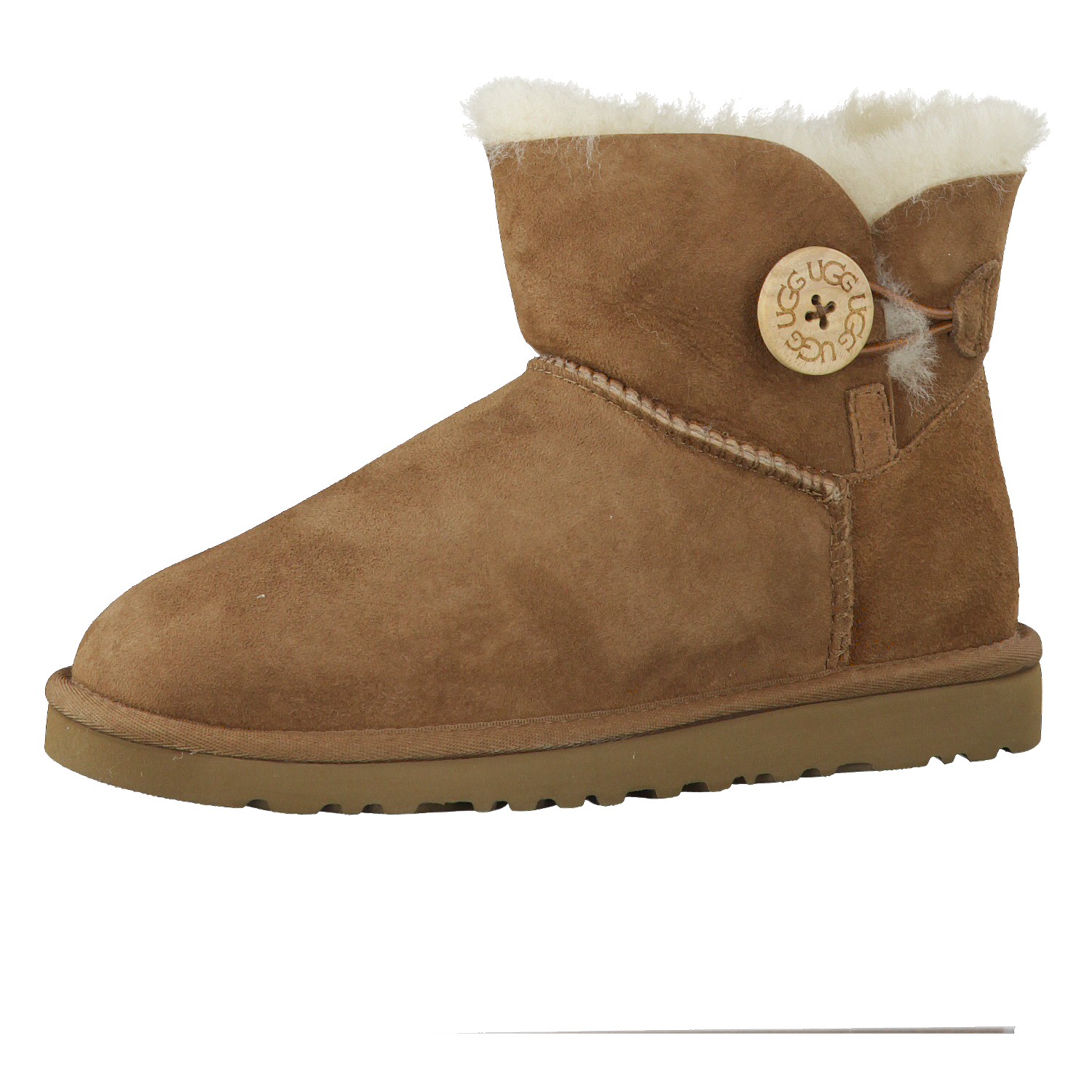UGG Damen Mini Boots Bailey Button 3352-12S: Chestnut: 36