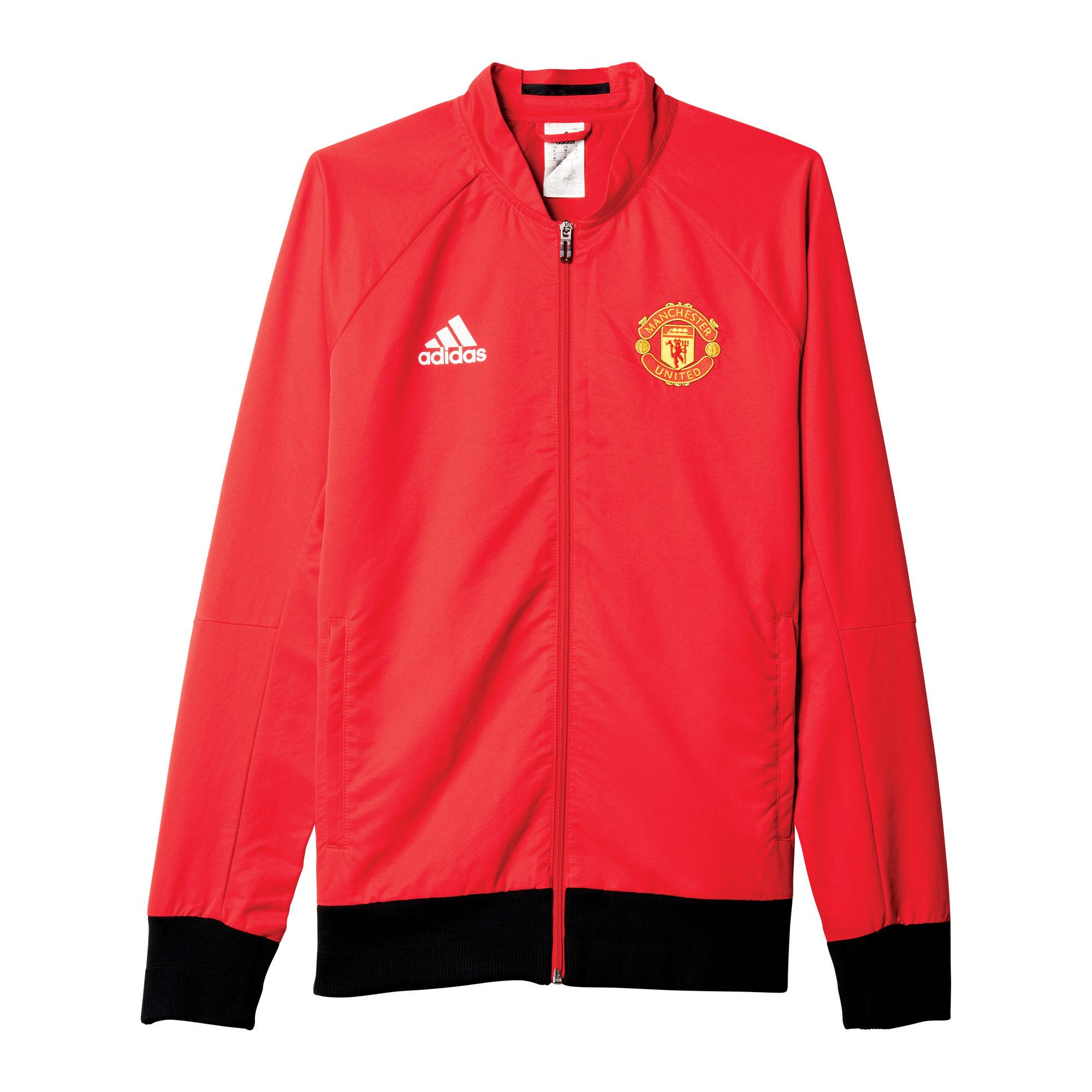 adidas Herren Manchester United Woven Anthem Jacke 2015/16 AI5401 S
