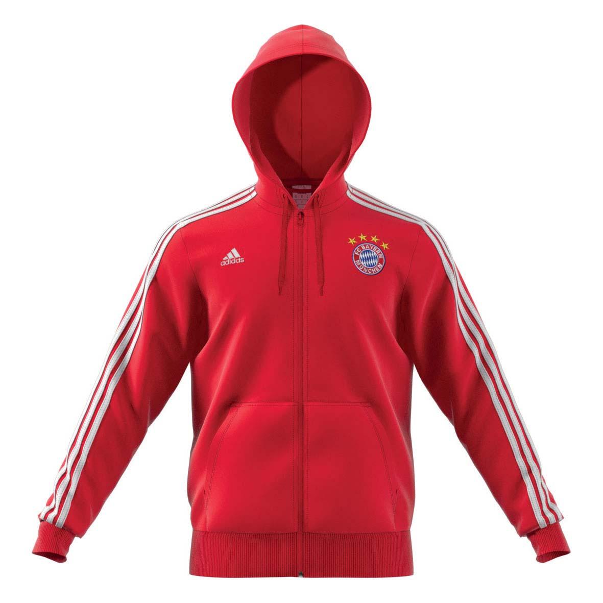 adidas Herren FC Bayern München 3S Full Zip Hoo...