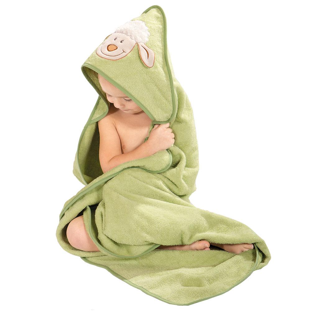 WeWo fashion Baby Kapuzentuch Schaf 8018K-hellgrün