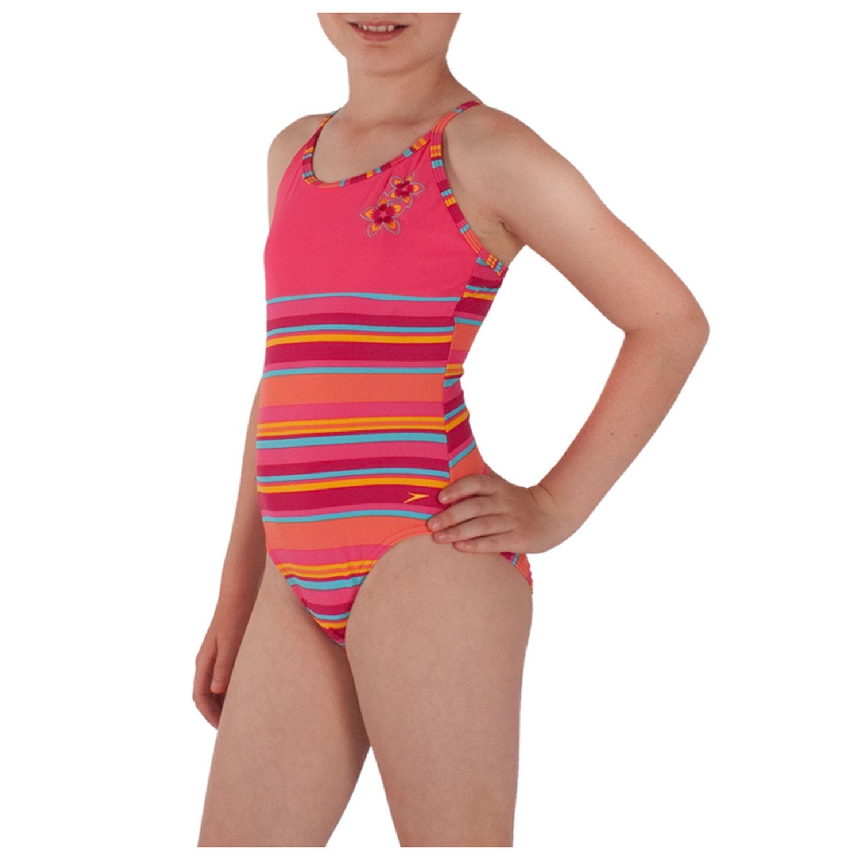 kinder badeanzug m dchen schwimmanzug violett pink 104 116. Black Bedroom Furniture Sets. Home Design Ideas