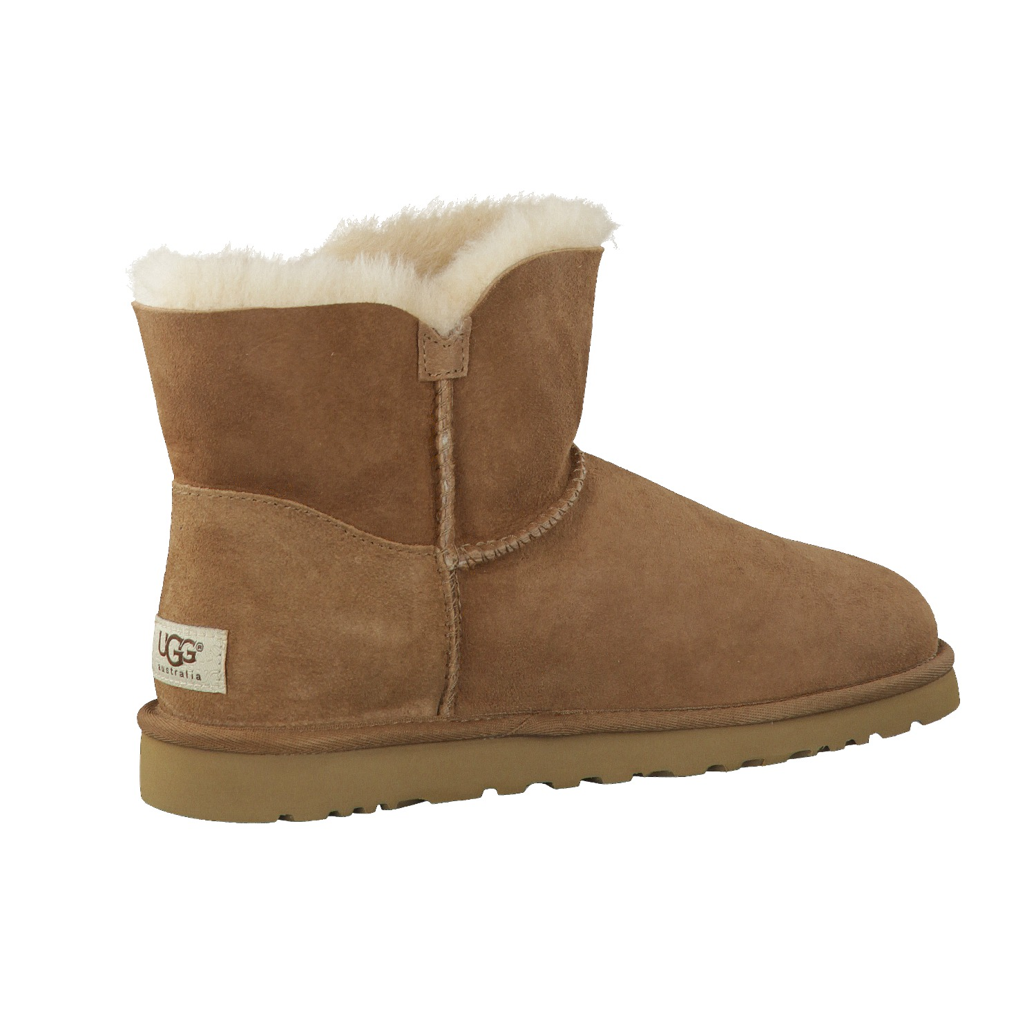 UGG chestnut mini bailey button bottes